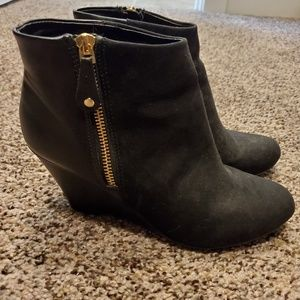Report brand wedge heel booties